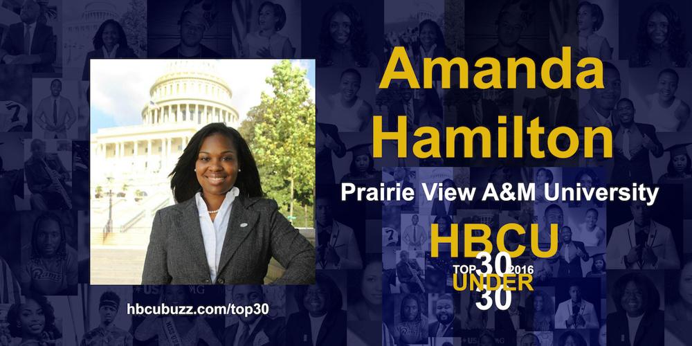 Amanda Hamilton HBCU Top 30 Under 30 2016