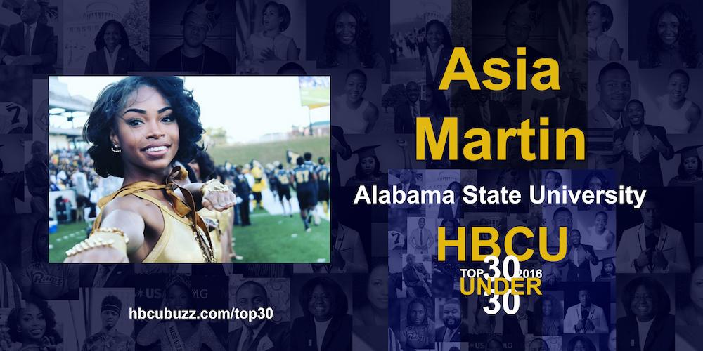 Asia Martin HBCU Top 30 Under 30 2016