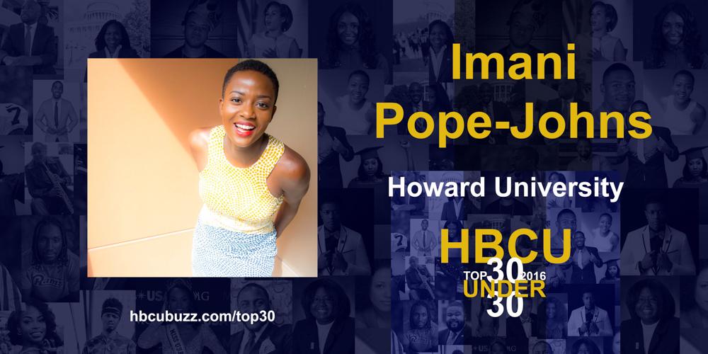 Imani Pope-Johns HBCU Top 30 Under 30 2016