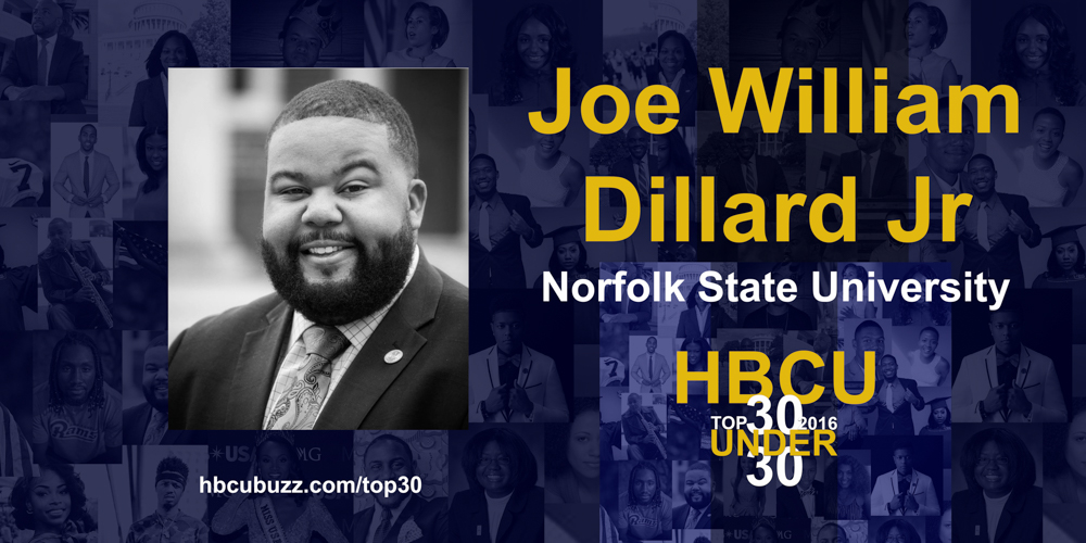 Joe William Dillard Jr HBCU Top 30 Under 30 2016
