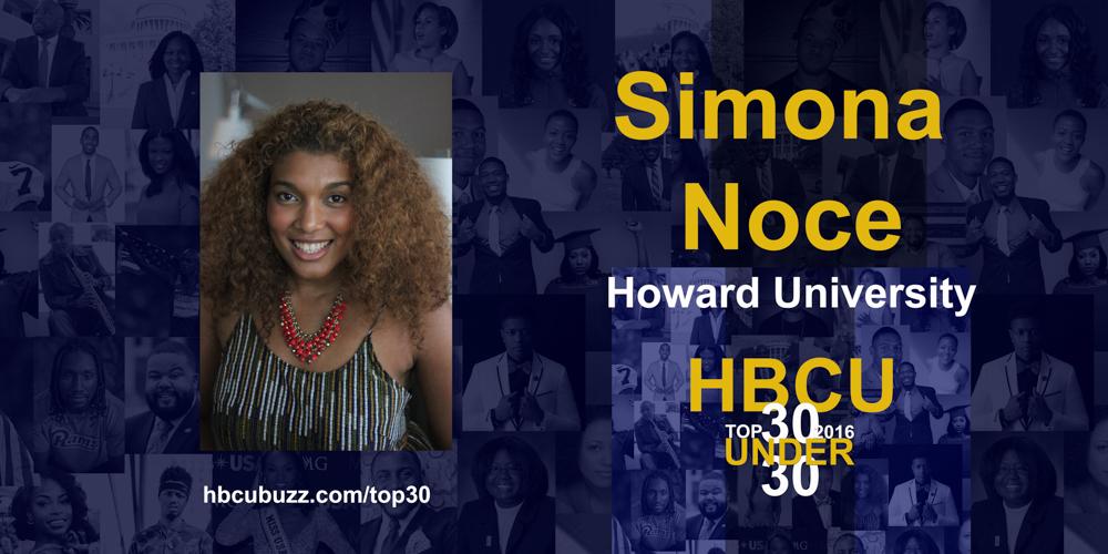 Simona Noce HBCU Top 30 Under 30 2016