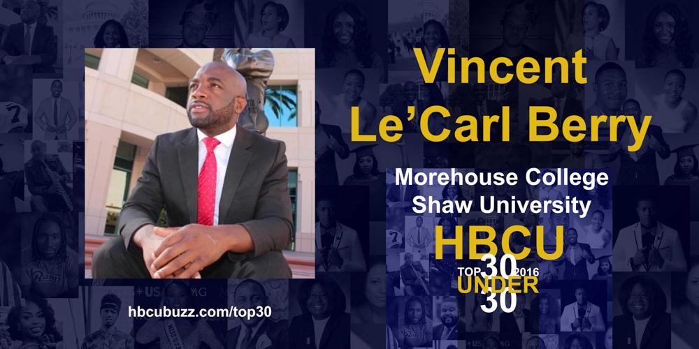 Vincent Le'Carl Berry HBCU Top 30 Under 30 2016